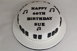 musical 60th birthday cake