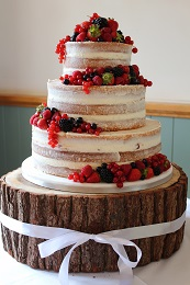 naked wedding cake fresh fruit