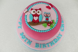 owl 30th birthday cake