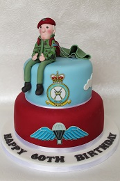 paratrooper birthday cake