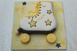 roller boot 40th birthday cake
