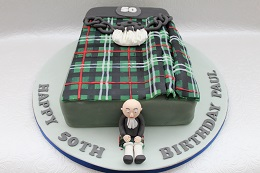 scottish kilt birthday cake