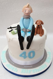 ski themed 40th birthday cake