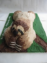 sloth birthday cake