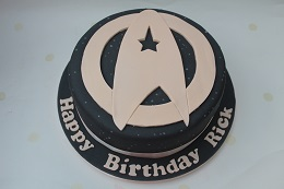 star trek birthday cake