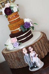 totally naked wedding cake