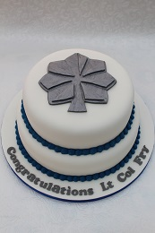 us air force silver oak leaf promotion cake