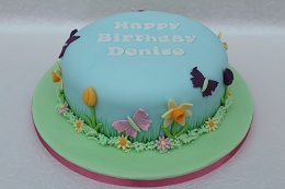 vegan springtime birthday cake