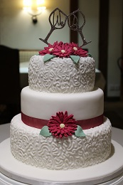 wedding cake gerbera