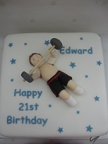 weightlifting theme birthday cake