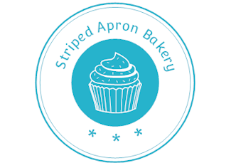striped apron bakery logo
